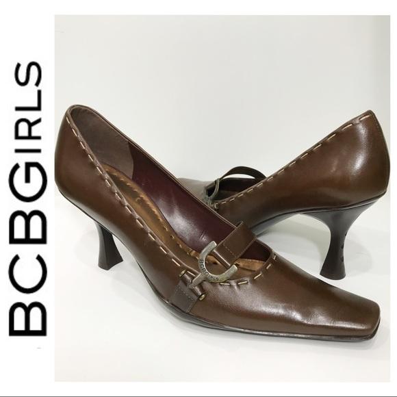 BCBGirls Shoes - BCBGirls Leather Pumps, 9 M, Brown